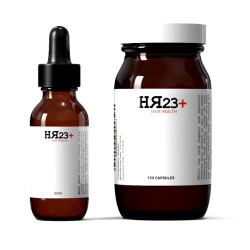 Buy HR23+ hair growth supplement and serum